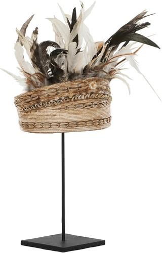 MUST Living Balinese hoed met schelpen en veren