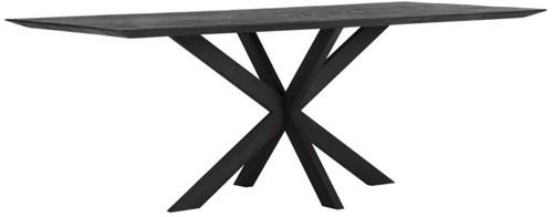 DTP Home Timeless Black eettafel Curves 210 cm
