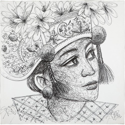MUST Living Wall Art Balinese girl Kadek
